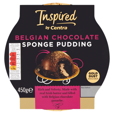 INSPIRED BY CENTRA BELGIAN CHOCOLATE SPONGE PUDDING 450G