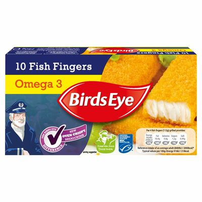 Birds Eye Omega 3 Fish Fingers 10 Pack 280g