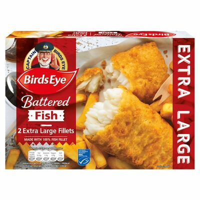 Birds Eye Batter Extra Large Fish Fillets 2 Pack 320g