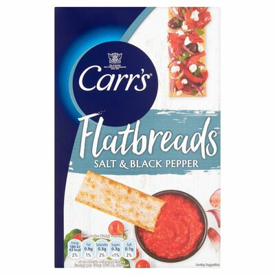 Carr's Lunchtime Salt & Pepper Flatbreads 150g