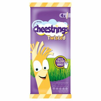 Cheesestrings Twisted 4 Pack 80g