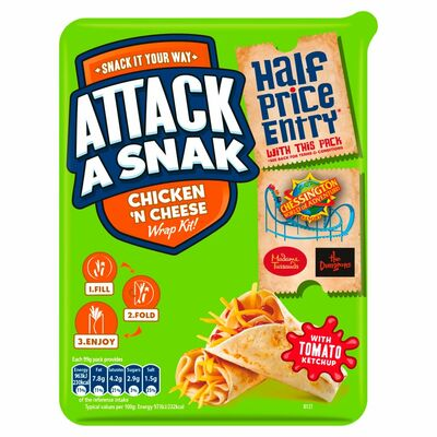Attack-A-Snack Ham & Cheese Wrap 99g