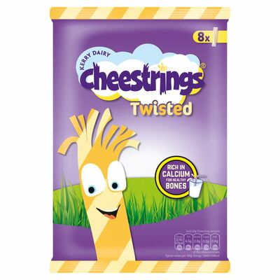 Cheesestrings Twisted 8 Pack 160g