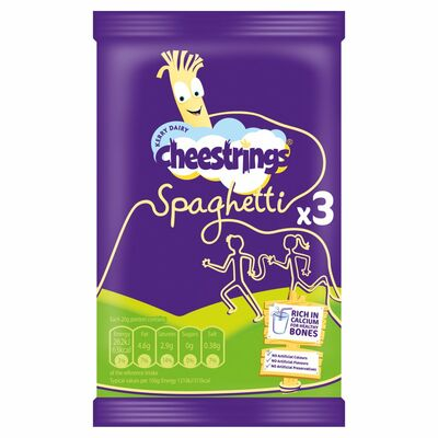 Cheesestrings Spaghetti 3 Pack 60g