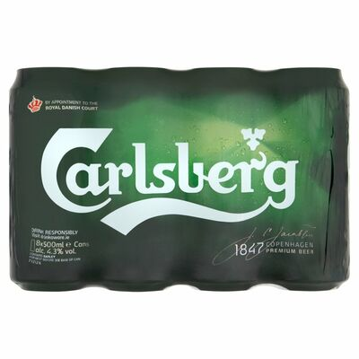 CARLSBERG FRIDGE CAN PACK 8 X 500ML