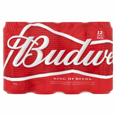 Budweiser Can Pack 12 x 500ml