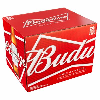 Budweiser Bottles  20 Pack 300ml