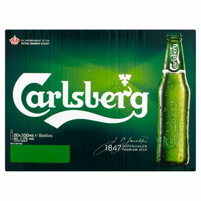 CARLSBERG BOTTLES BOX 20 X 300ML