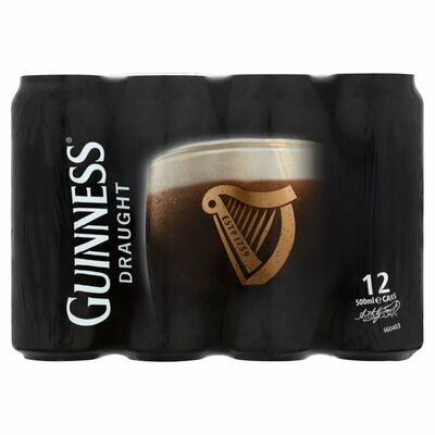 GUINNESS DRAUGHT CAN PACK 12 X 500ML