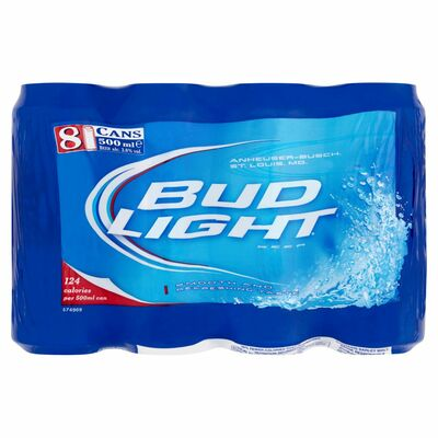 BUD LIGHT CAN PACK 8 X 500ML