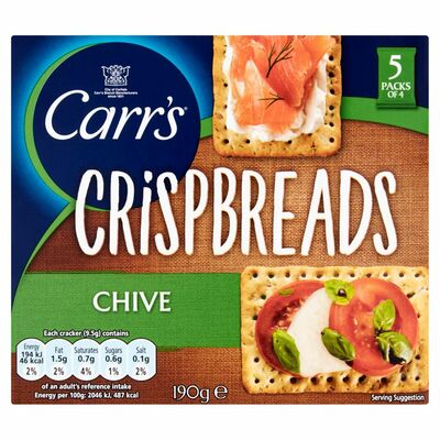 Carr's Lunchtime Crispbreads Chive 190g