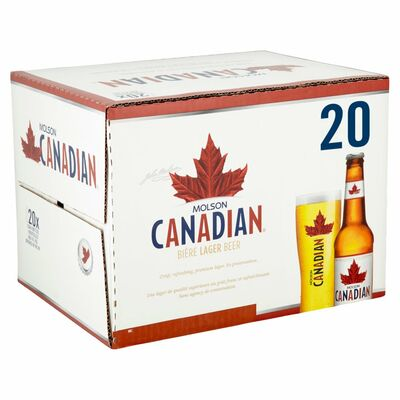 MOLSON CANADIAN BOTTLE BOX 20 X 330ML