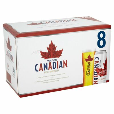 MOLSON CANADIAN CAN PACK 8 X 500ML