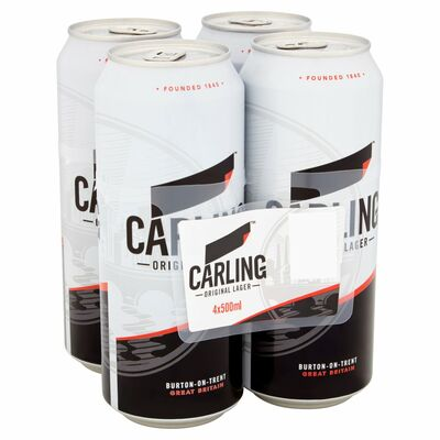 CARLING CAN PACK 4 X 500ML