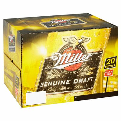 MILLER GOLD BOTTLE 4.7% BOTTLE PACK 20 X 330ML
