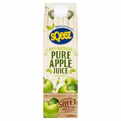 Sqeez Pure Apple Juice From Concentrate 1ltr