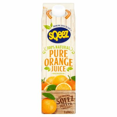 Sqeez Pure Orange Juice From Concentrate 1ltr