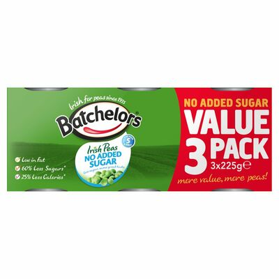 Batchelors Sugar Free Peas 3 Pack 225g