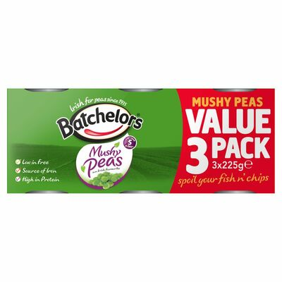Batchelors Mushy Peas 4 Pack 225g