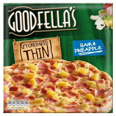 Goodfella's Stonebaked Thin Ham Pineapple Pizza 365g