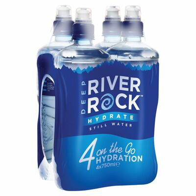 Deep River Rock Still Water Bottle Pack 4 x 750ml
