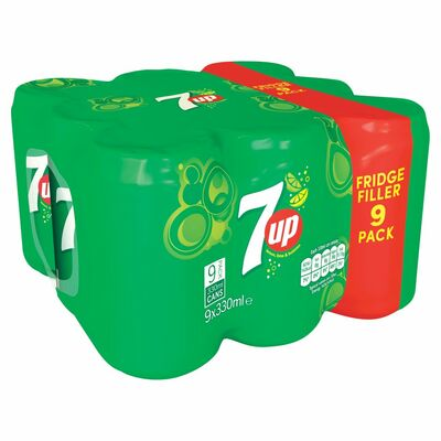 7Up Can Pack 9 x 330ml
