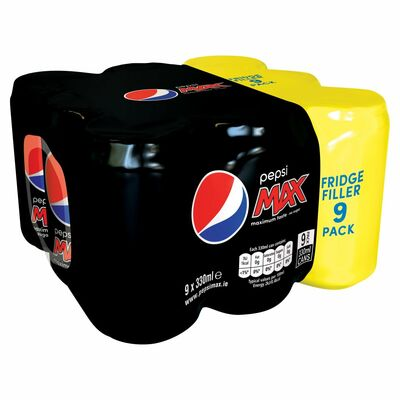 Pepsi Max Can Pack 9 x 330ml