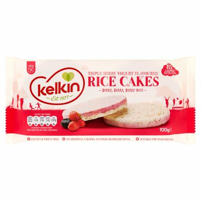 Kelkin Triple Berry Rice Cakes 100g