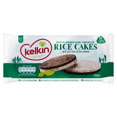 Kelkin Dark Chocolate Mint Rice Cakes 100g