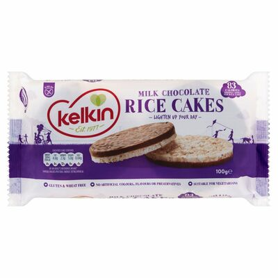 Kelkin Chocolate Covered Rice Cakes 6 Pack 100g