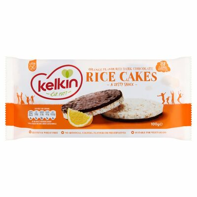 Kelkin Dark Chocolate Orange Rice Cakes  100g