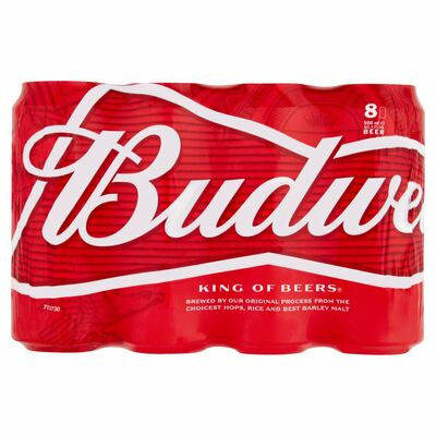 Budweiser Can 8 Pack 8 x 500ml