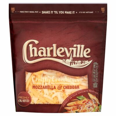 Charleville Grated Red Cheddar & Mozzarella 200g