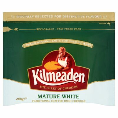 Kilmeaden Mature White Cheddar Cheese 200g