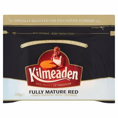 Kilmeaden Fully Mature Red Cheddar Cheese 200g
