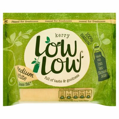 Low Low White Cheddar Block 200g
