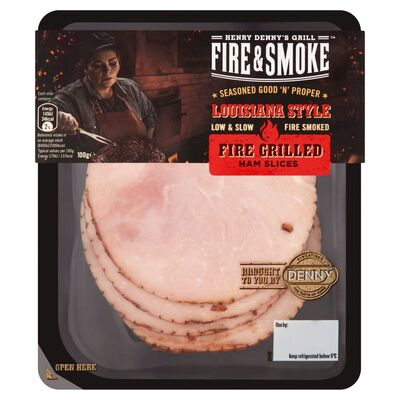 Denny Premium Fire & Smoke Grilled Ham Slices 100g