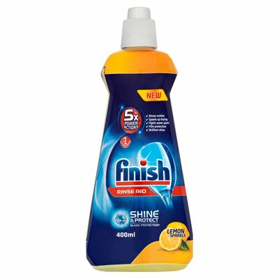 Finish Rinse Aid Shine & Dry Lemon 400ml