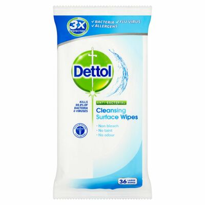 Dettol Antibacterial Surface Wipes 36pce