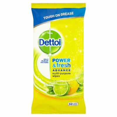 Dettol Cleaning Wipes Power & Fresh Citrus 32pce