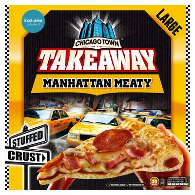 Chicago Town Manhattan Meaty Stuffed Crust Pizza 655g