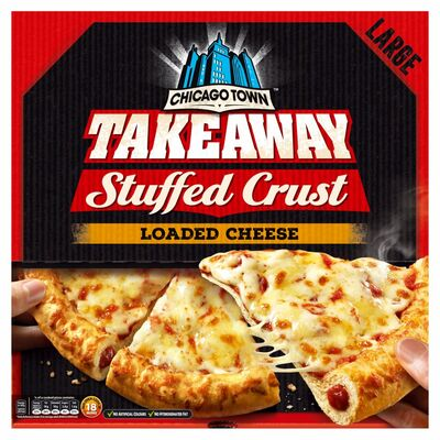 Chicago Town Takeaway Stuffed Crust 4 Cheese Pizza 630g
