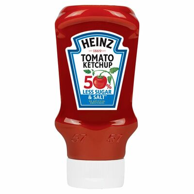 Heinz Ketchup 50% Less Sugar & Salt 400ml