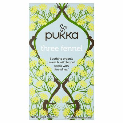 Pukka Organic Three Fennal Herbal Tea 36g