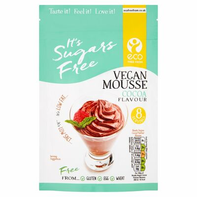 Eco Free From Cocoa Sugar Free Vegan Mousse 160g