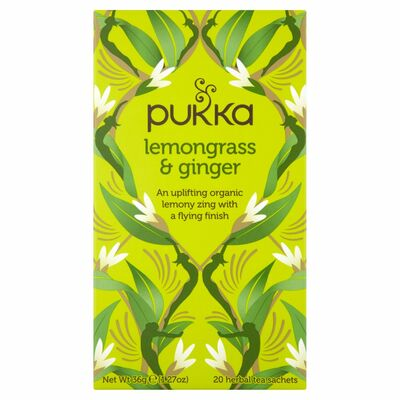 Pukka Organic Lemongrass & Ginger Tea 20g