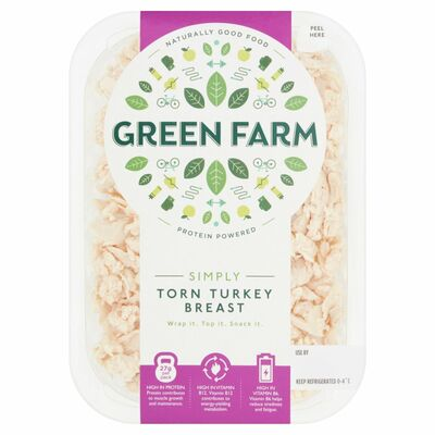 Green Farm Fine Foods Torn Turkey Breast 100g