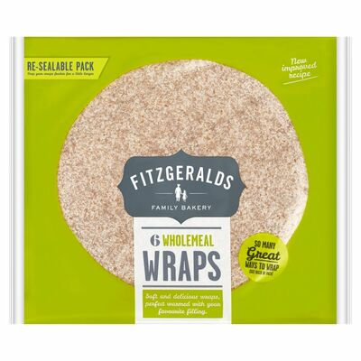 Fitzgeralds Family Bakery 6 Wholemeal Wraps 370g