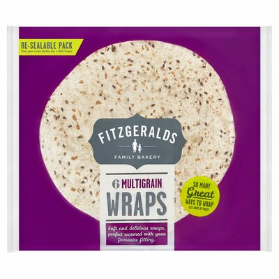 Fitzgeralds 6 Multigrain Wraps 370g