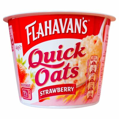 Flahavan's Quick Oats Strawberry Pot 46g
